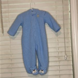 Carter's Bear Fluffy Snuggly Hooded Footed Sleeper